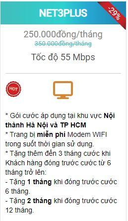 gói net 3 plus